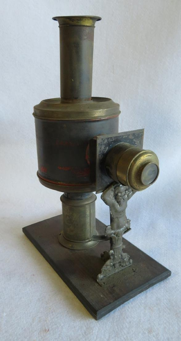 Tin Magic Lantern with slides, traces of original - 7