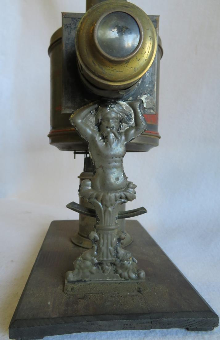 Tin Magic Lantern with slides, traces of original - 8