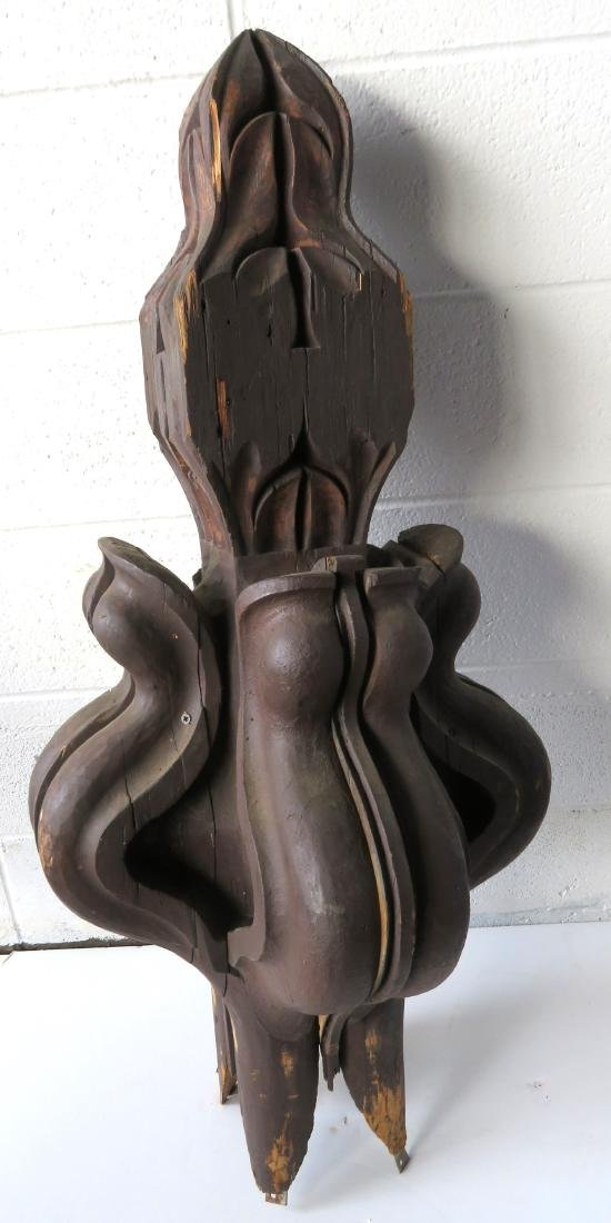 Large Victorian carved architectural finial mounted on