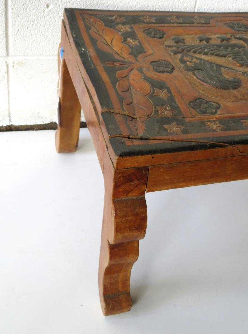 Late Chinese export coffee table having a carved center - 3