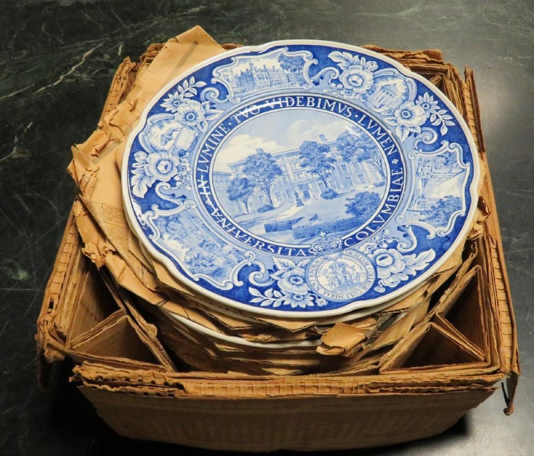 Set of 12 Columbia University dinner plates 1931 1st ed