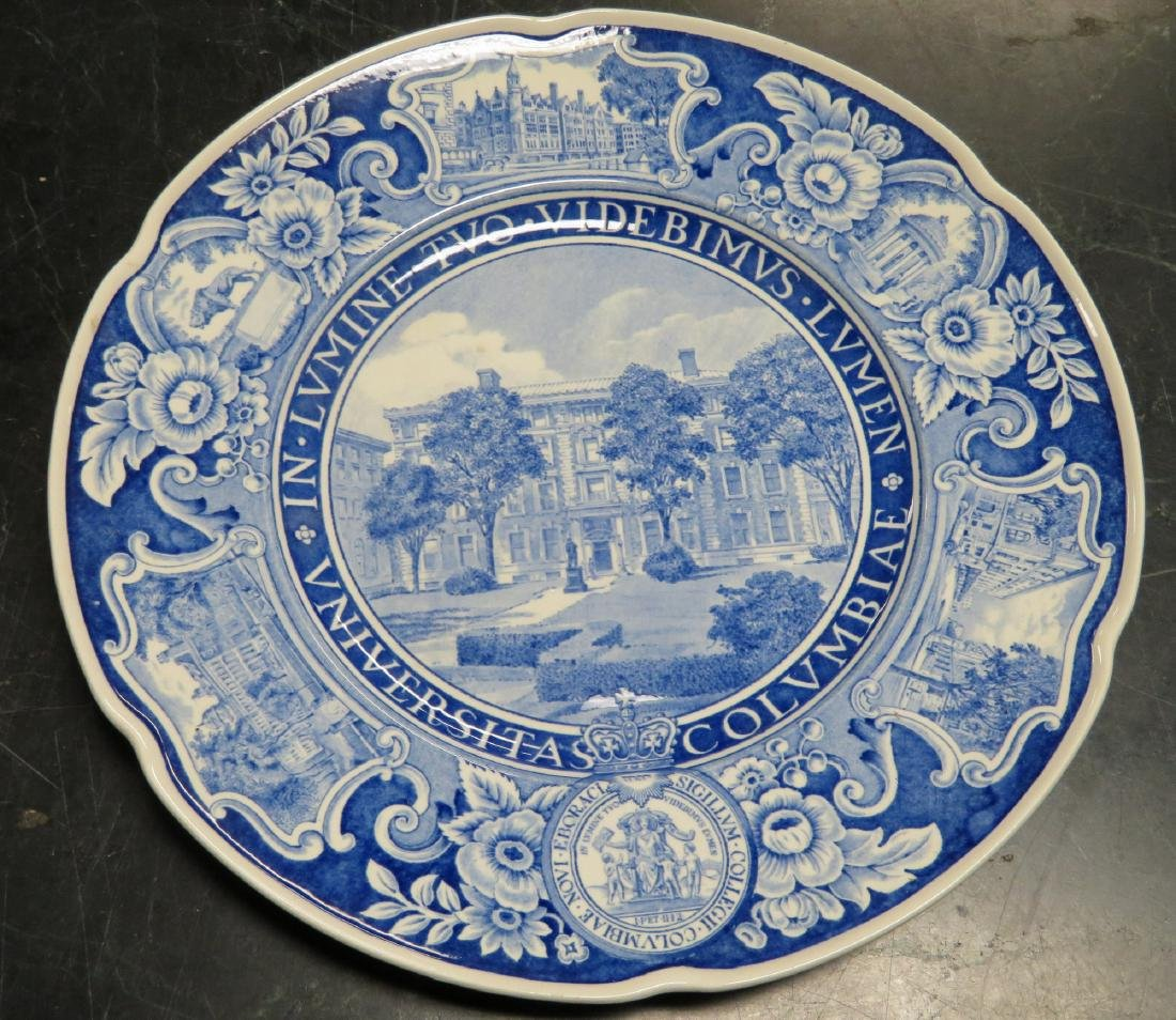Set of 12 Columbia University dinner plates 1931 1st ed - 3