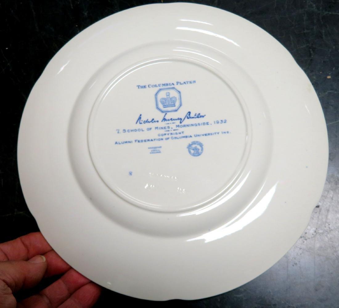 Set of 12 Columbia University dinner plates 1931 1st ed - 4