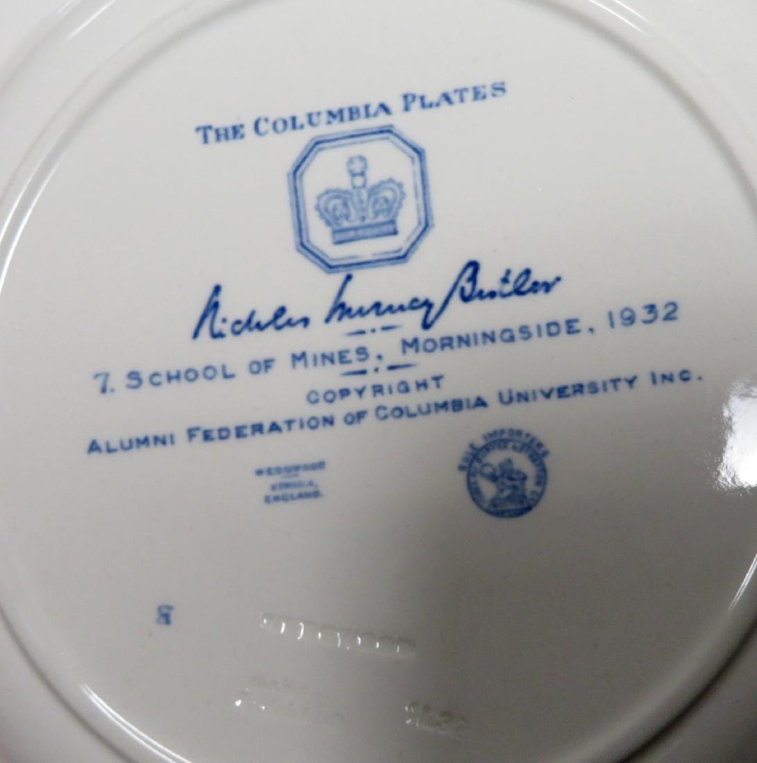 Set of 12 Columbia University dinner plates 1931 1st ed - 5