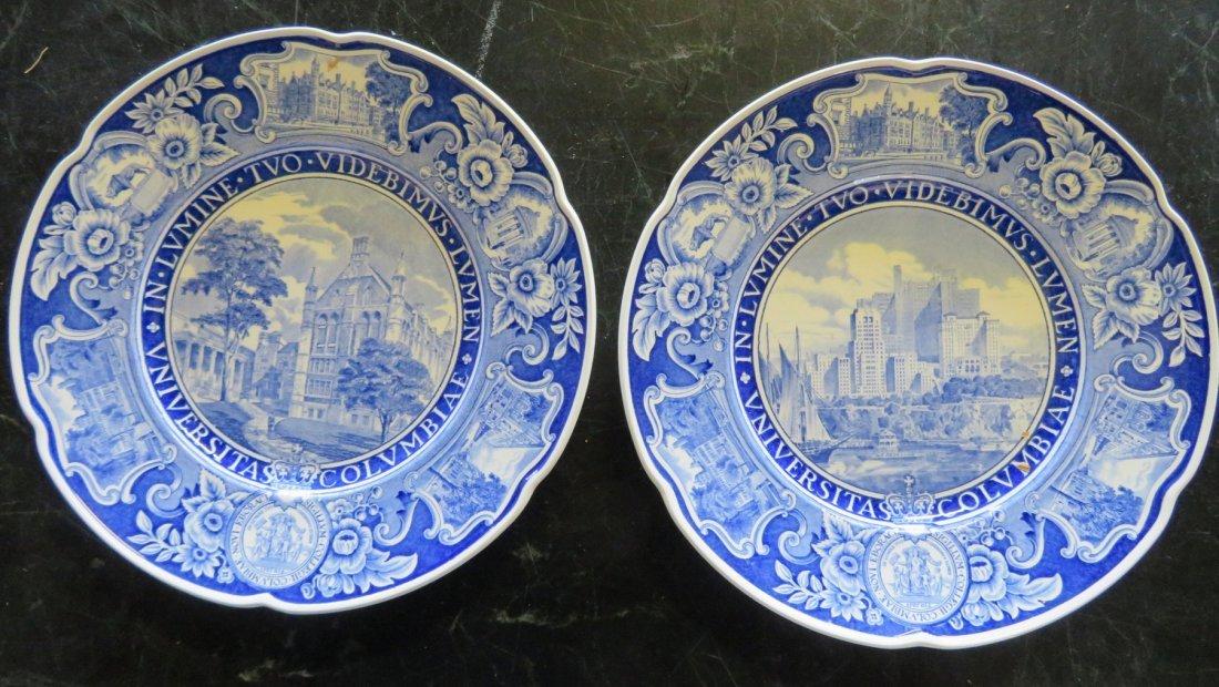 Set of 12 Columbia University dinner plates 1931 1st ed - 8
