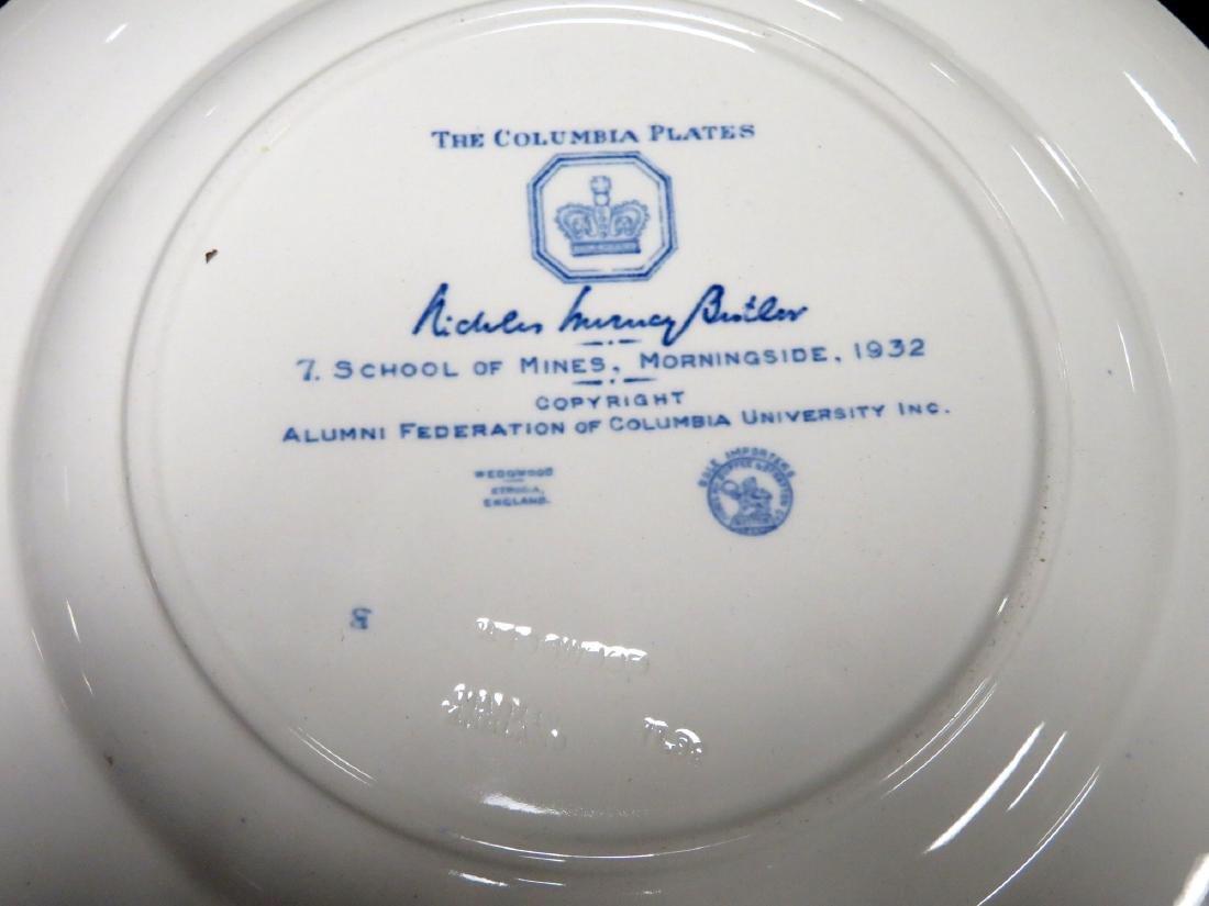 Set of 12 Columbia University dinner plates 1931 1st ed - 9