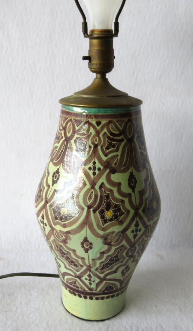Beautiful art pottery table lamp