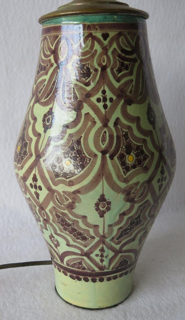 Beautiful art pottery table lamp - 2