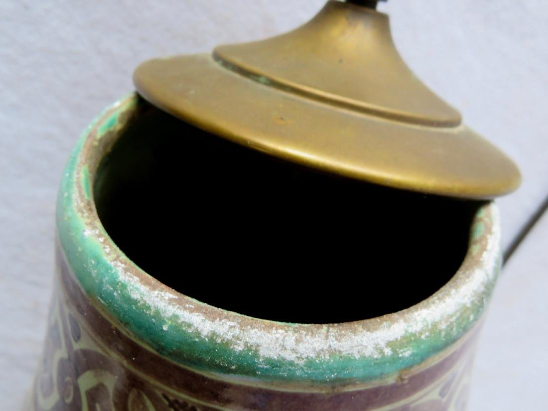 Beautiful art pottery table lamp - 3