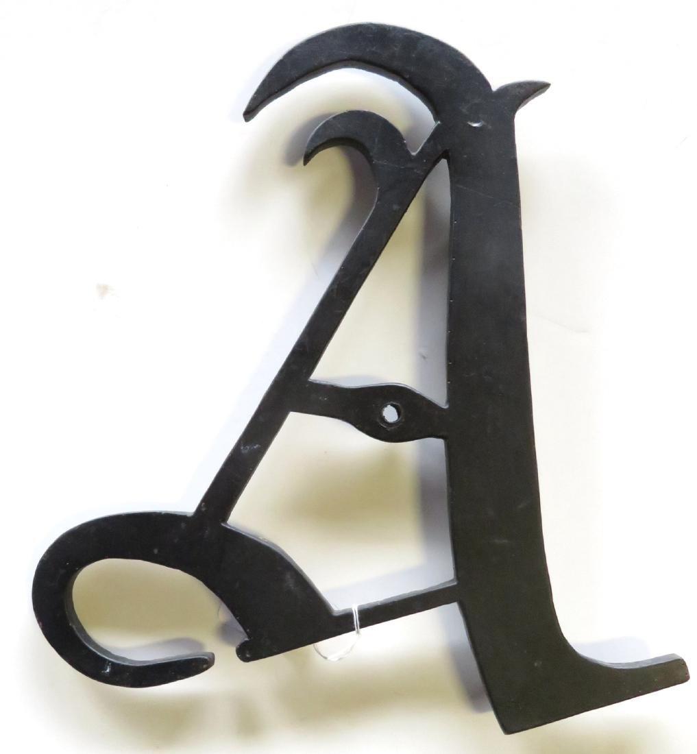 """Cast iron letter """"A""""."""