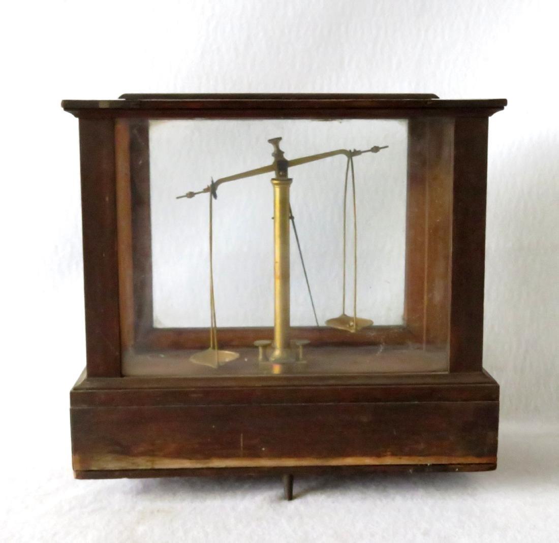 H. Kohlbusch gold or apothecary balance scale.
