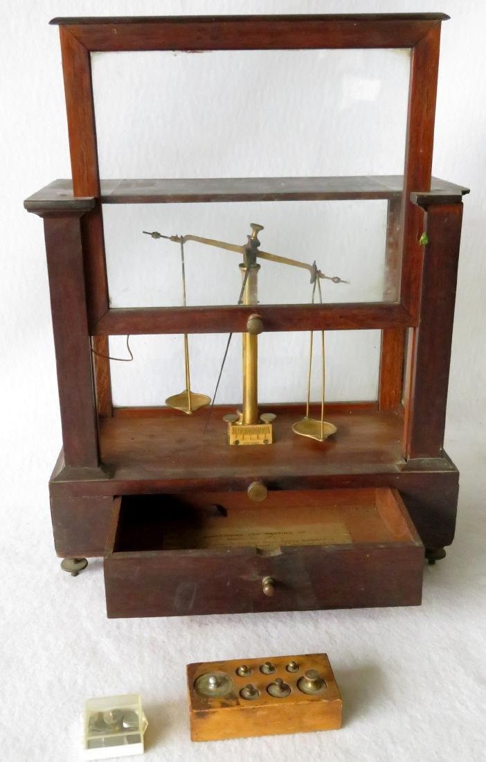 H. Kohlbusch gold or apothecary balance scale. - 4