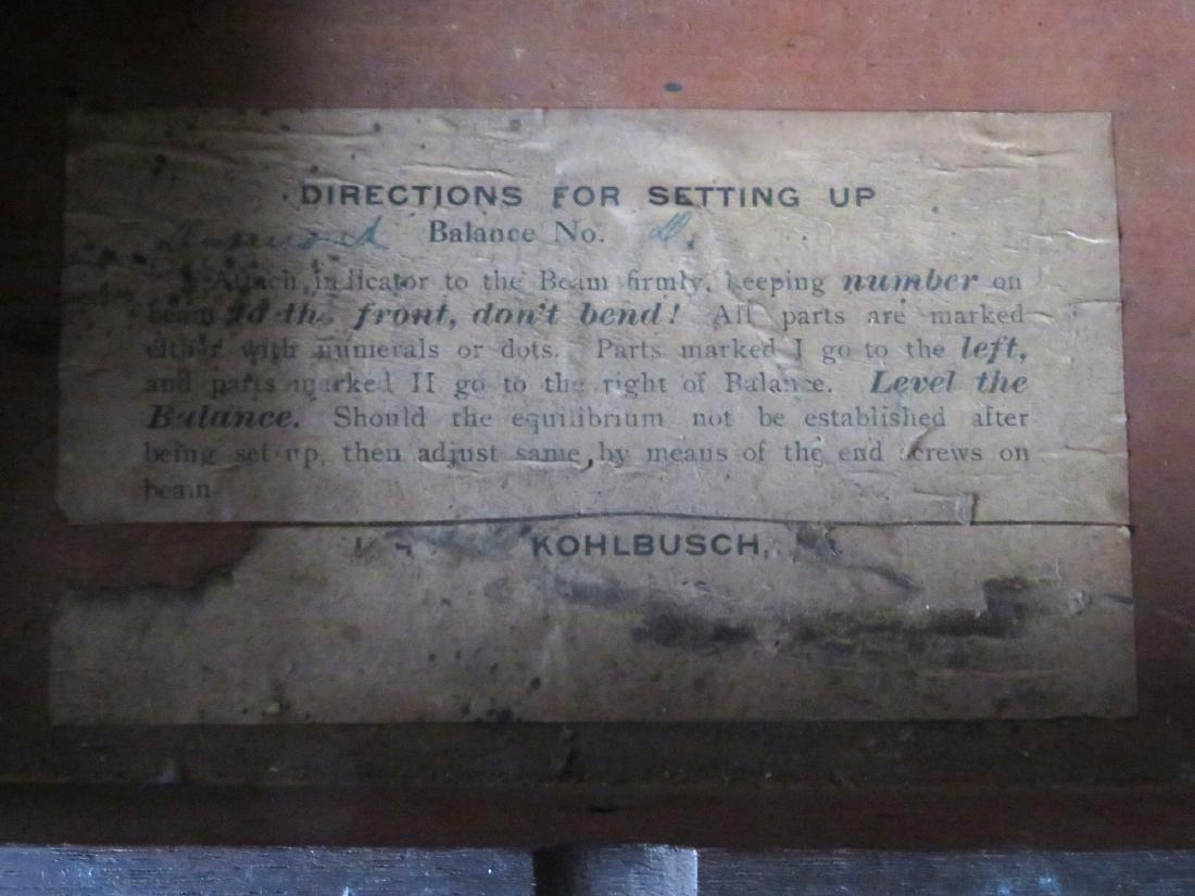 H. Kohlbusch gold or apothecary balance scale. - 5