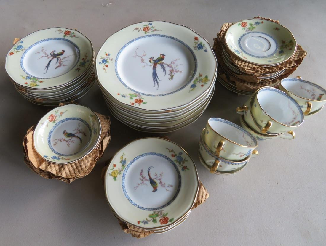 """Limoges china in """"Bird of Paradise"""" pattern china"""