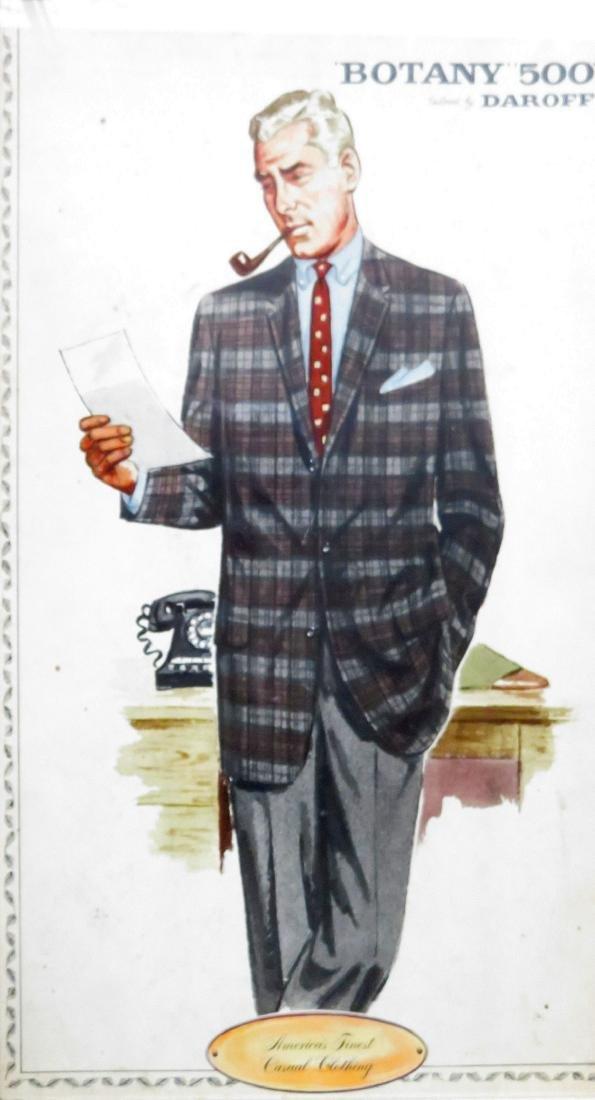 "Four framed Botany ""500"" men's clothing ads - 2"