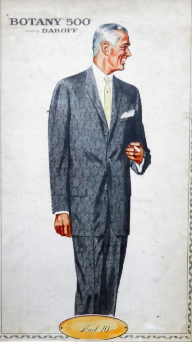 "Four framed Botany ""500"" men's clothing ads - 3"