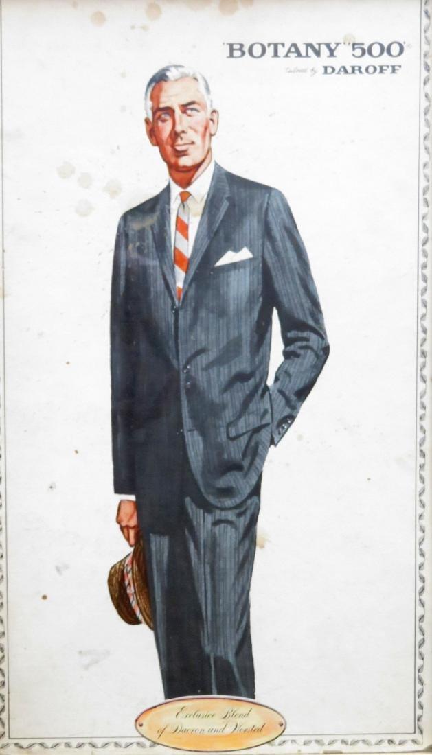 "Four framed Botany ""500"" men's clothing ads - 4"