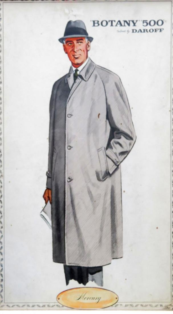 "Four framed Botany ""500"" men's clothing ads - 5"