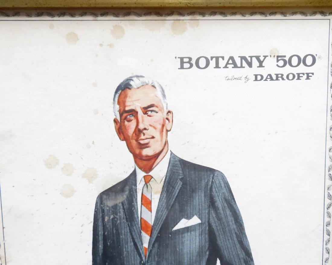 "Four framed Botany ""500"" men's clothing ads - 6"