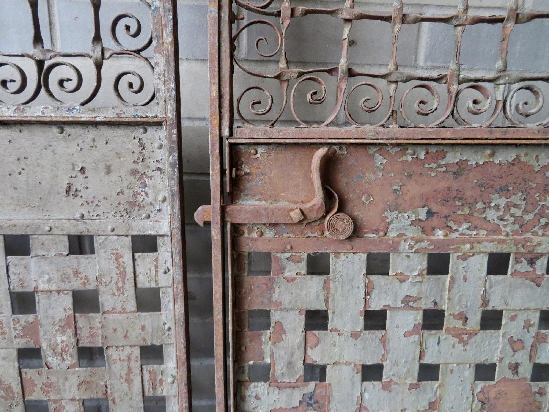 Two large near matching decorative cast iron - 3