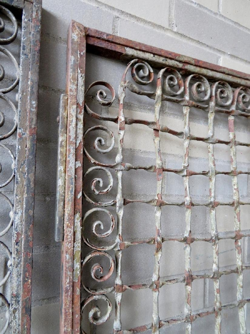 Two large near matching decorative cast iron - 5