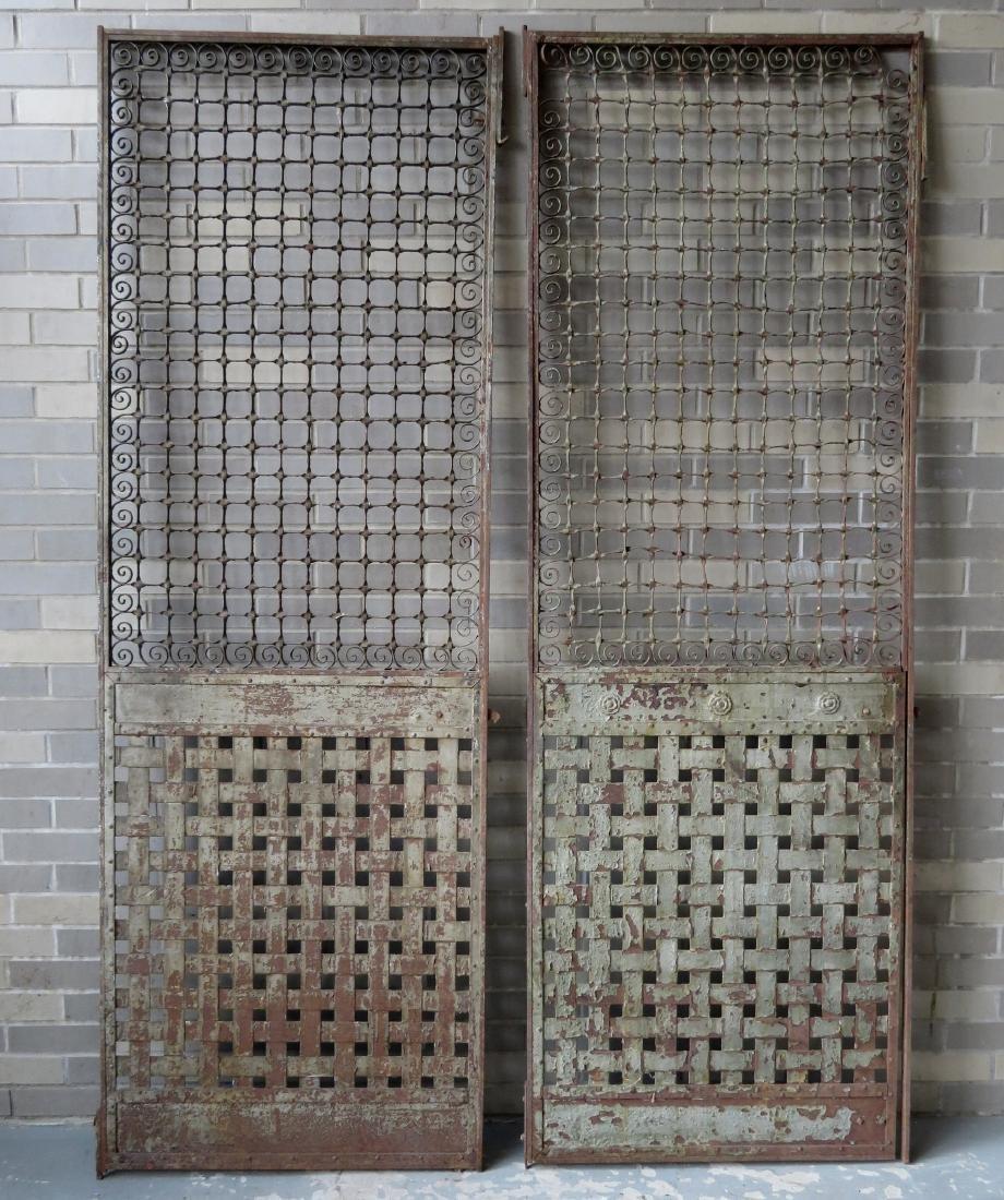 Two large near matching decorative cast iron - 8