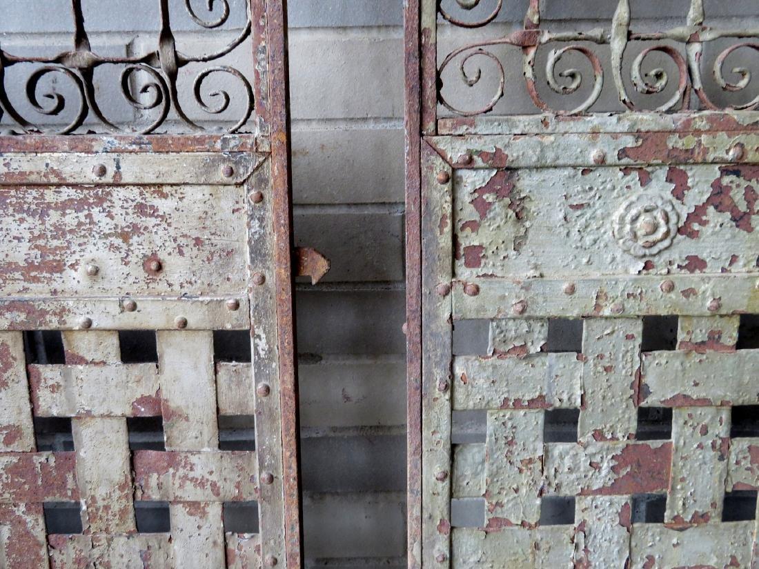 Two large near matching decorative cast iron - 9
