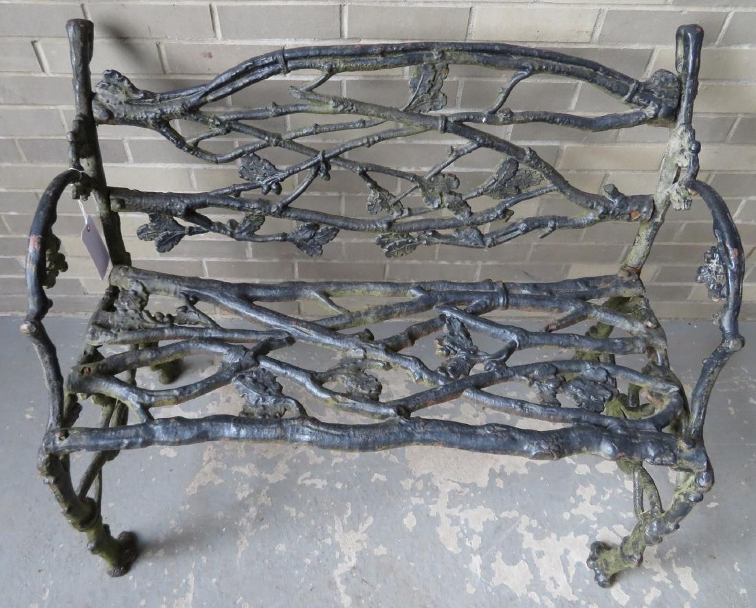 Three piece matching cast iron garden set in rustic - 3