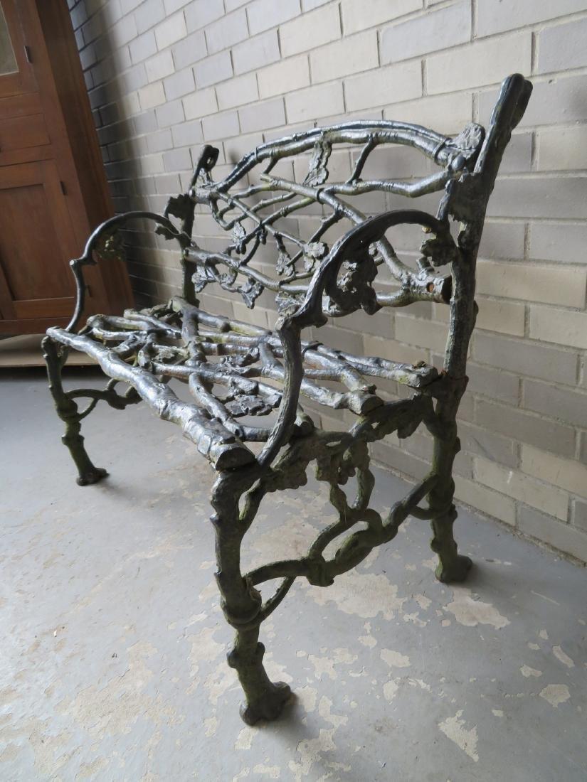 Three piece matching cast iron garden set in rustic - 4