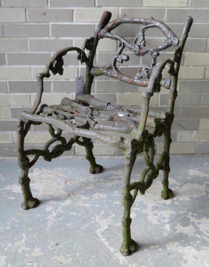Three piece matching cast iron garden set in rustic - 5