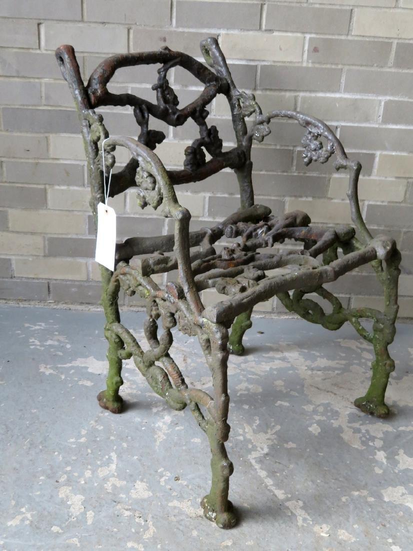 Three piece matching cast iron garden set in rustic - 6