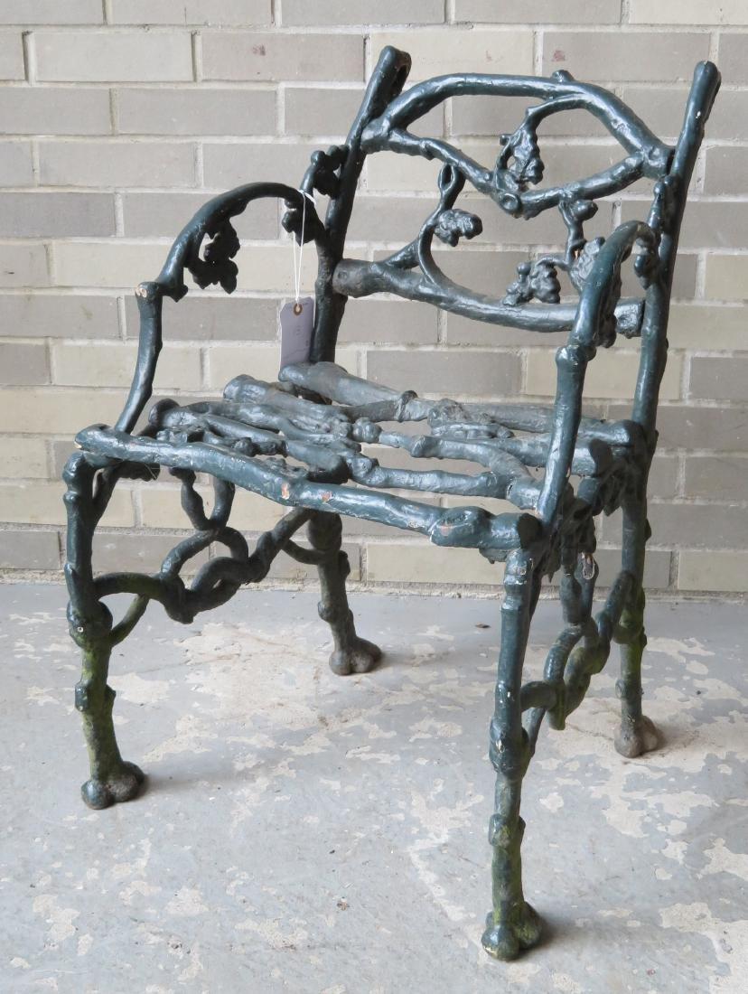 Three piece matching cast iron garden set in rustic - 8