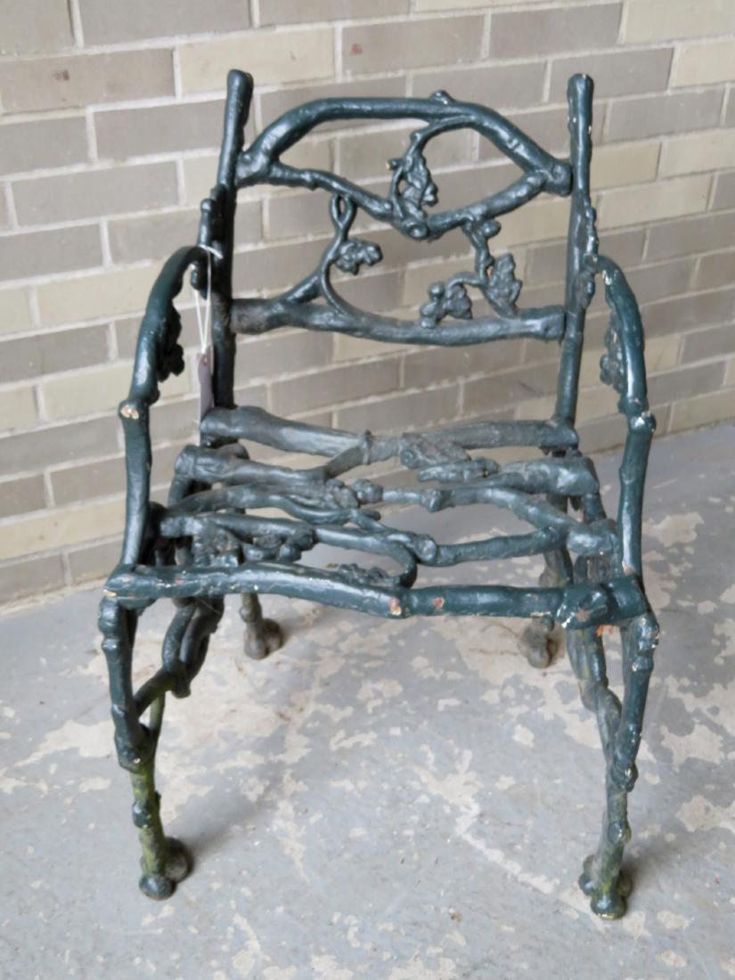 Three piece matching cast iron garden set in rustic - 9