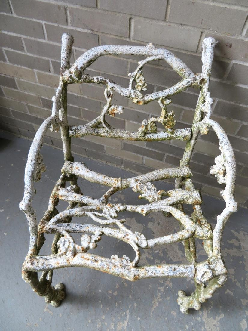 Two matching cast iron garden chairs in rustic twig - 3