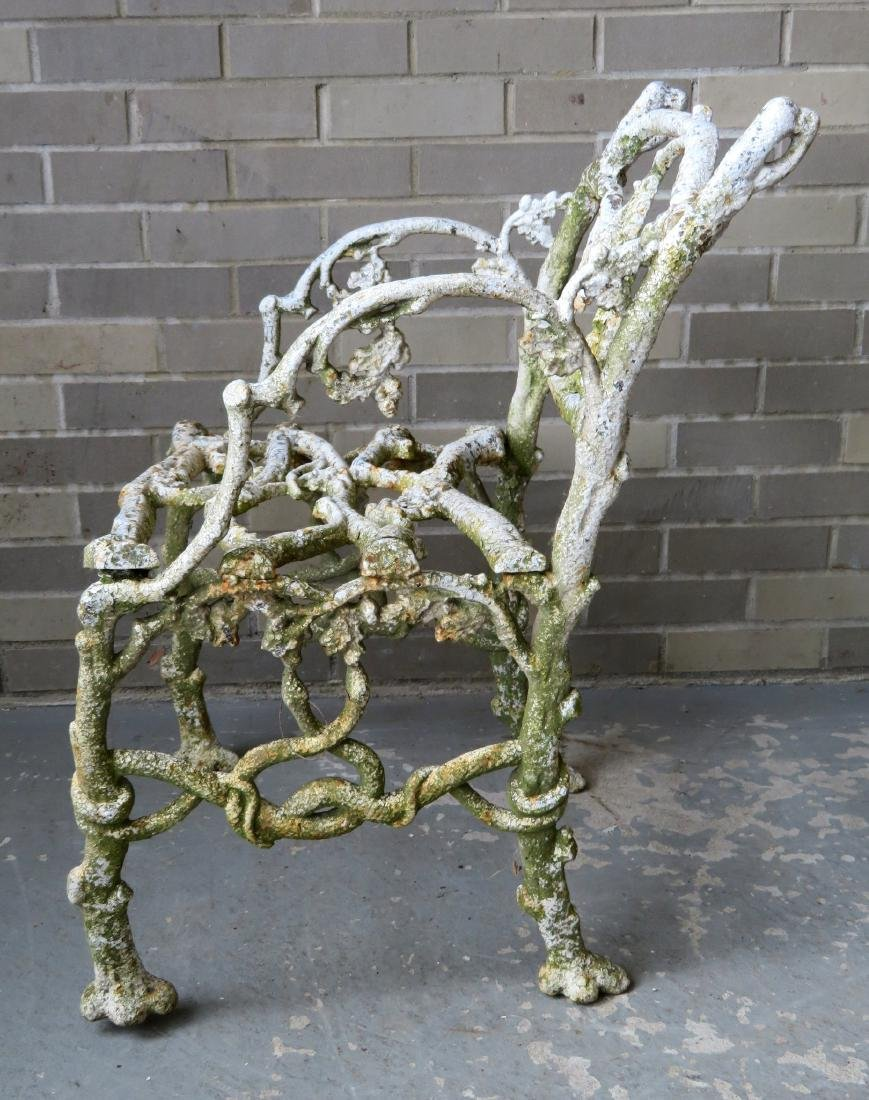 Two matching cast iron garden chairs in rustic twig - 6