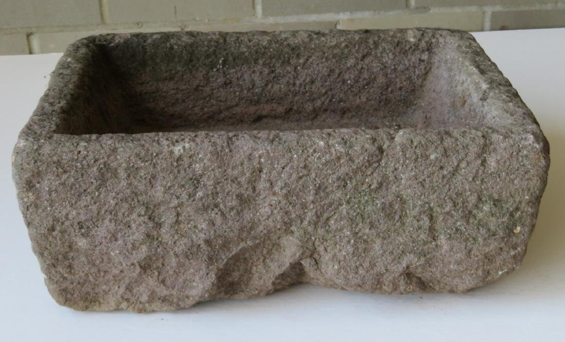 Carved stone rectangular trough - 18th/19th century -
