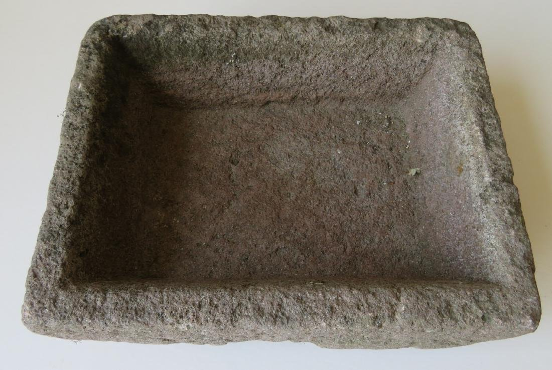 Carved stone rectangular trough - 18th/19th century - - 2