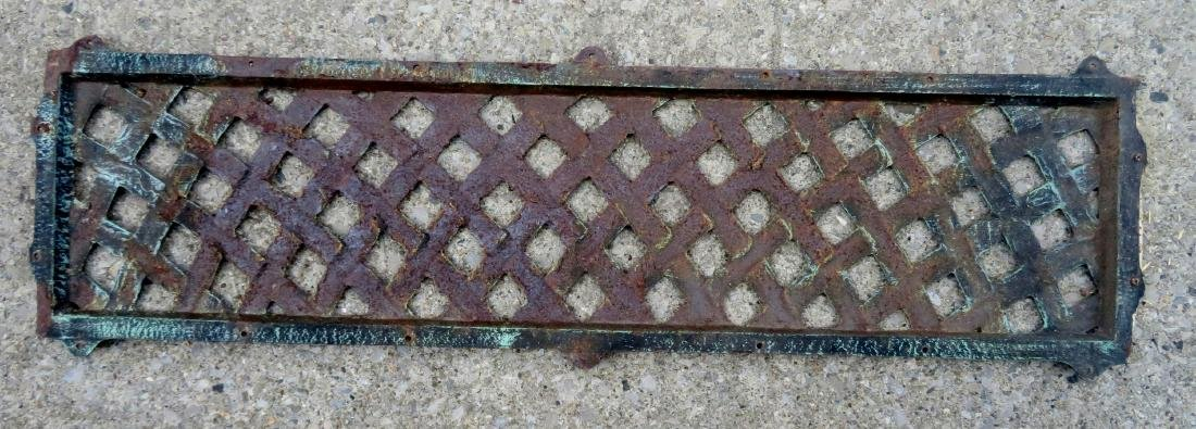 Cast iron basket weave grate, probably mid 20th