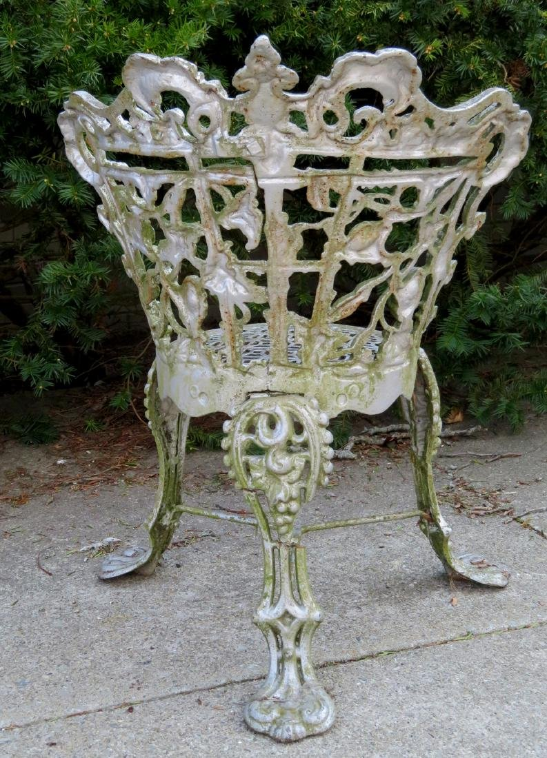 Cast iron classical garden seat decorated with scrolls, - 3
