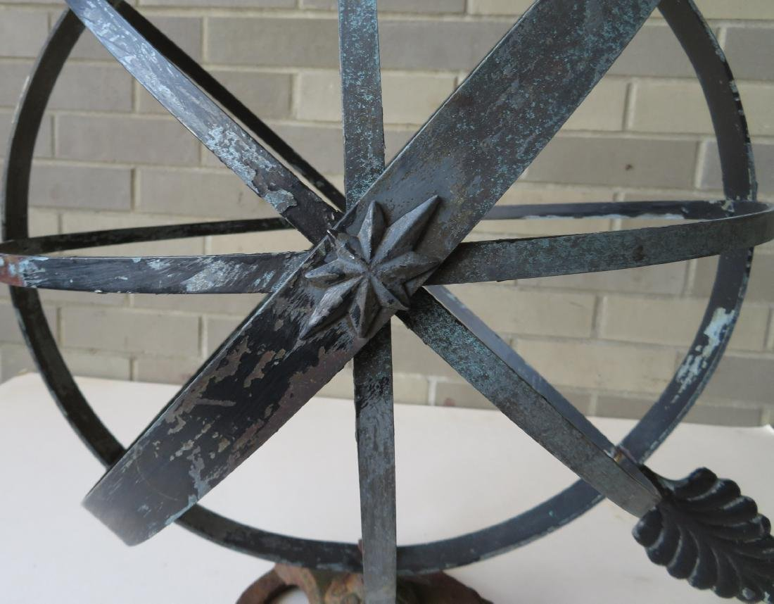 Armillary sphere in copper with a zinc arrow, mounted - 5
