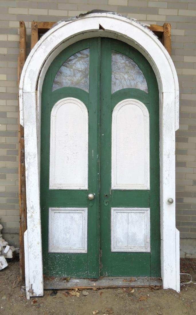 The double front door taken from the old Sleigh family