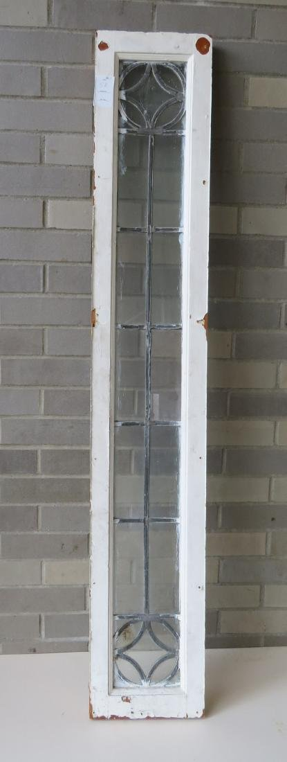 Leaded glass window with mortised construction, late