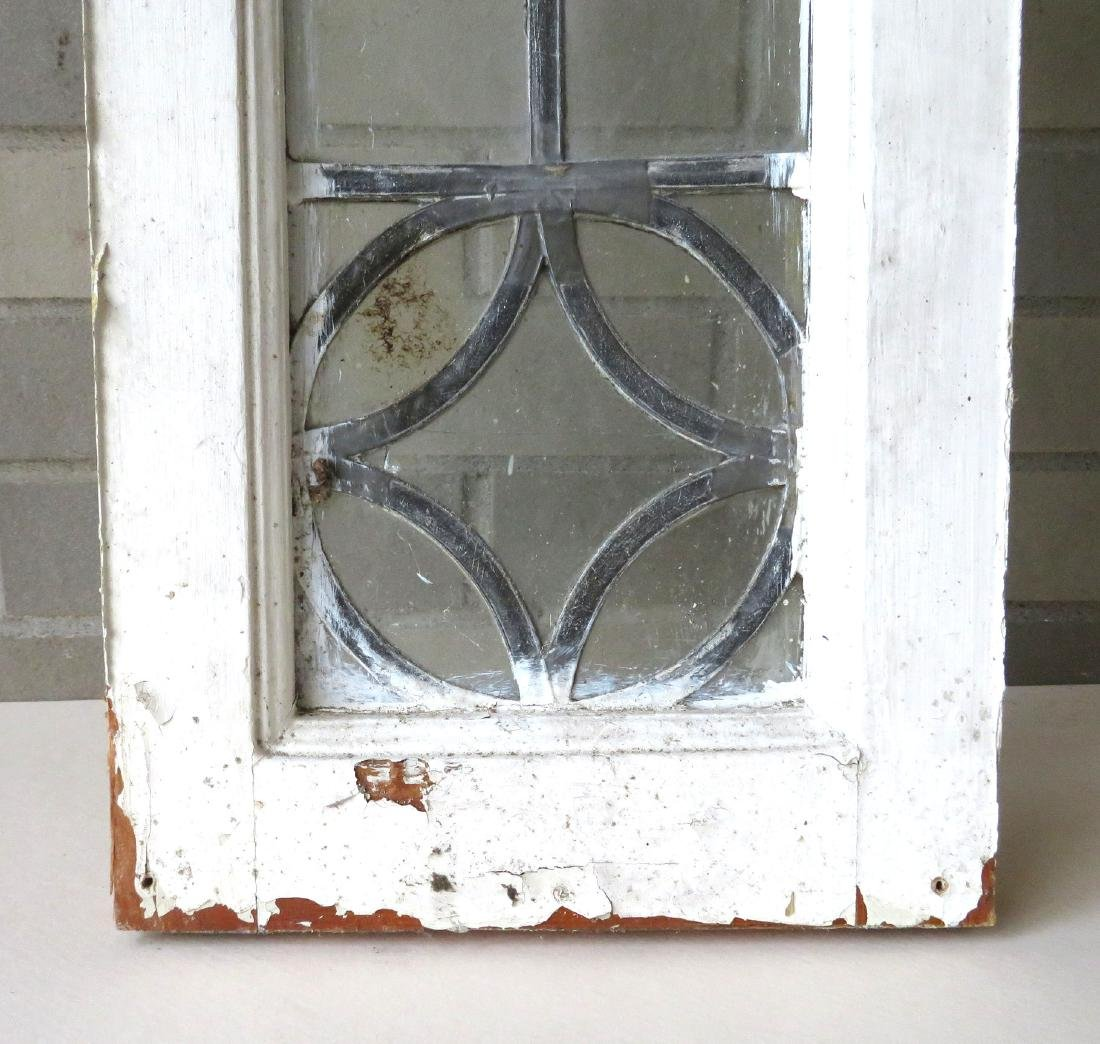 Leaded glass window with mortised construction, late - 2