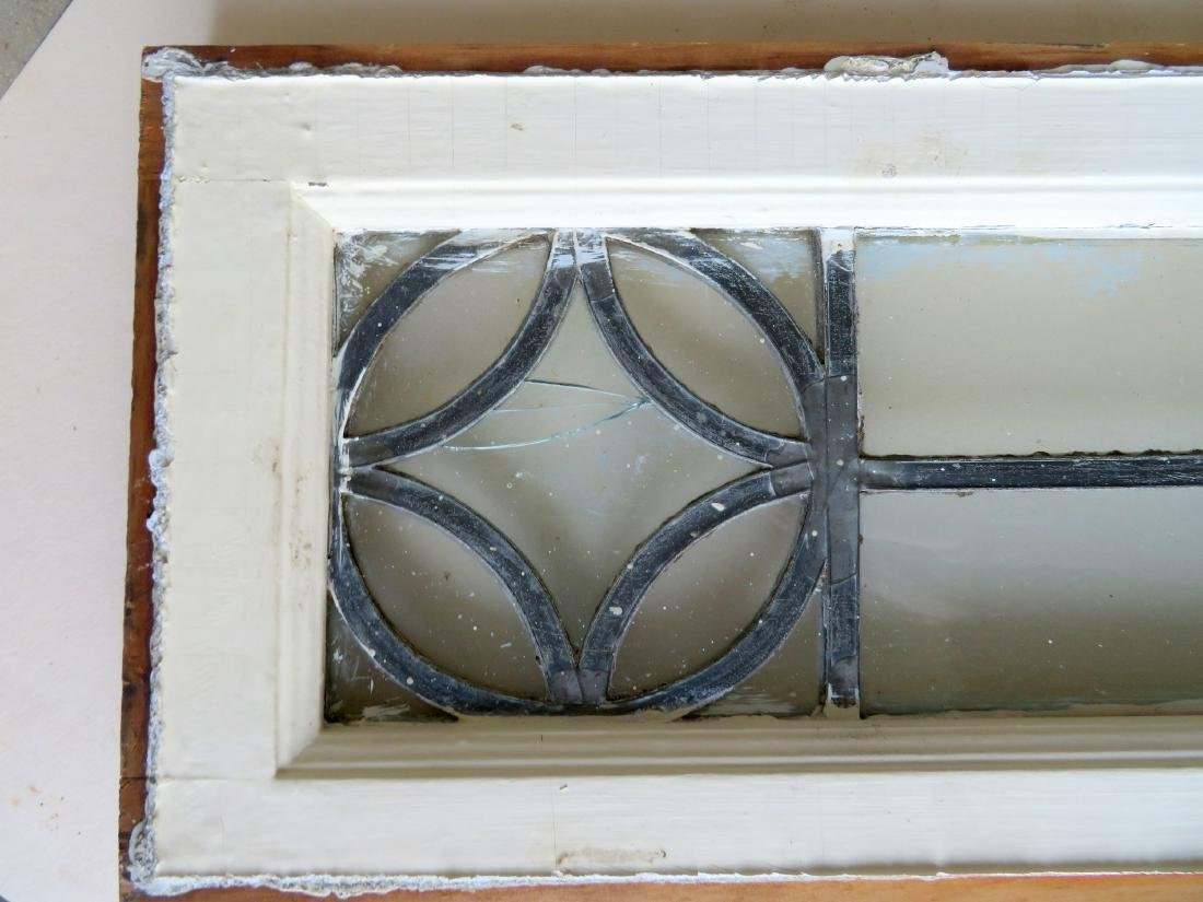 Leaded glass window with mortised construction, late - 3