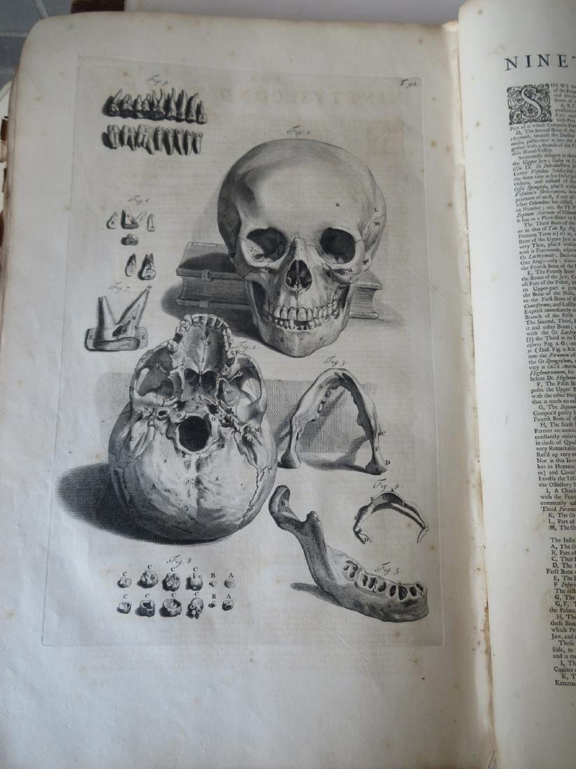 """Book by William Cowper (1666-1709 entitled """"THE ANATOMY - 10"""