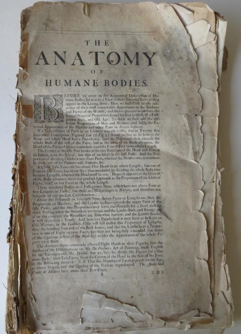 """Book by William Cowper (1666-1709 entitled """"THE ANATOMY"""