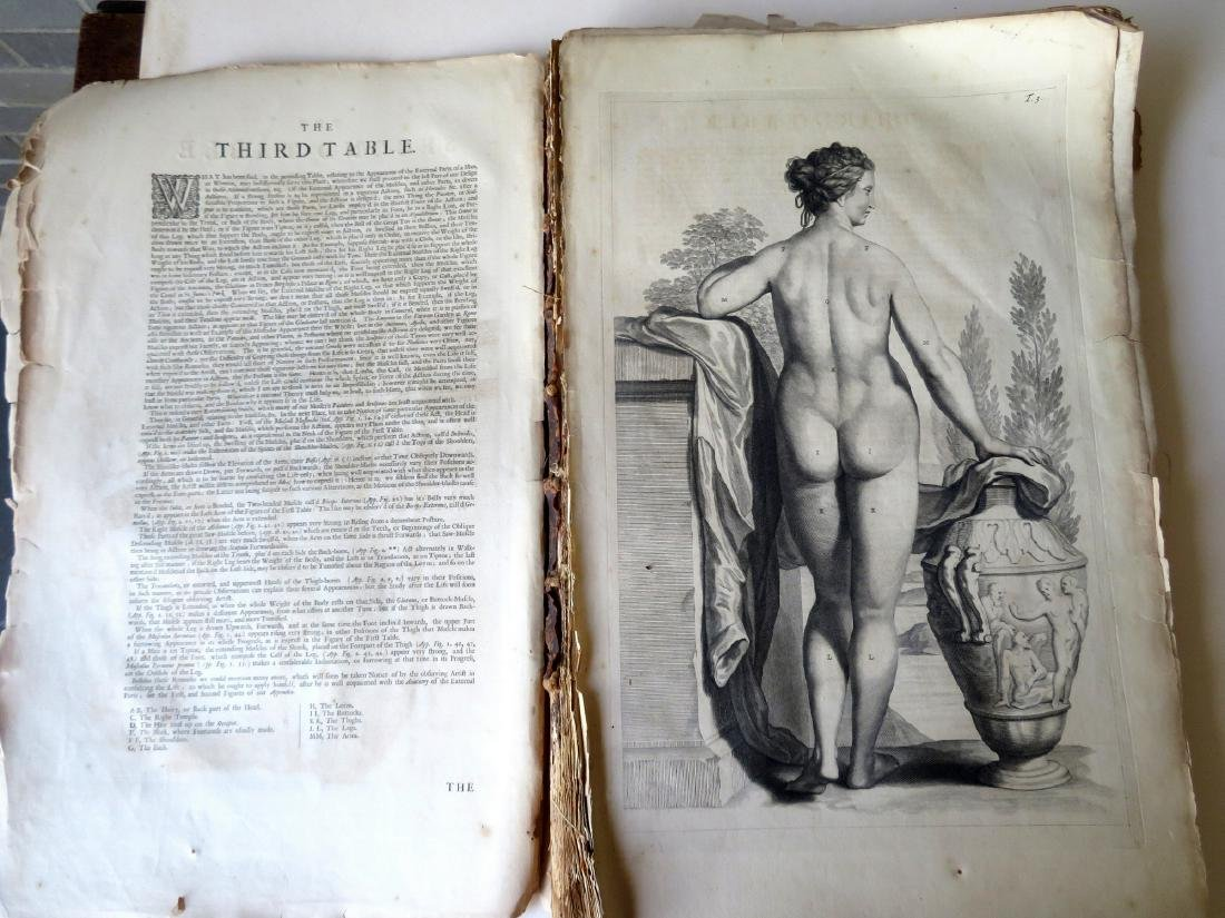 """Book by William Cowper (1666-1709 entitled """"THE ANATOMY - 5"""