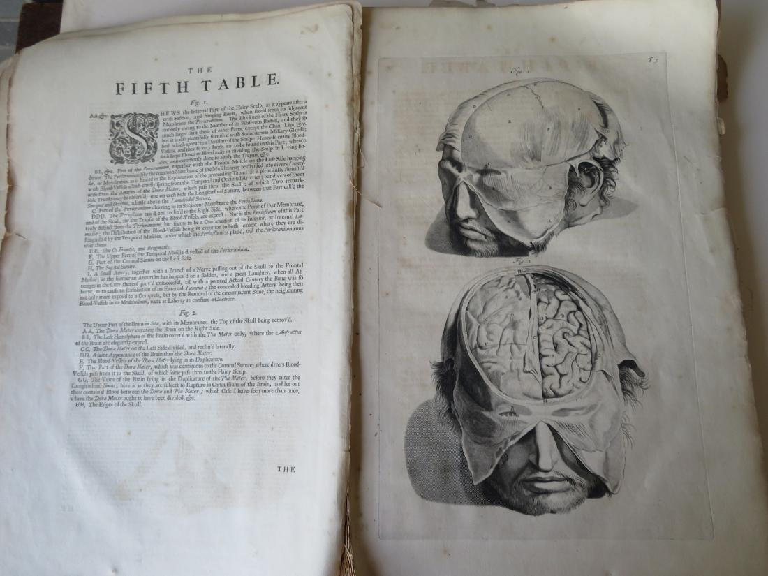 """Book by William Cowper (1666-1709 entitled """"THE ANATOMY - 6"""