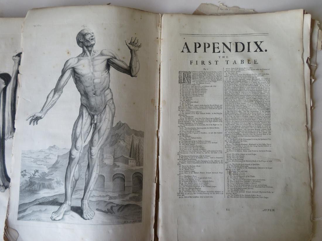 """Book by William Cowper (1666-1709 entitled """"THE ANATOMY - 8"""