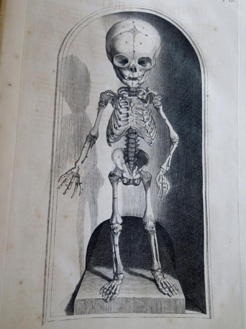 """Book by William Cowper (1666-1709 entitled """"THE ANATOMY - 9"""